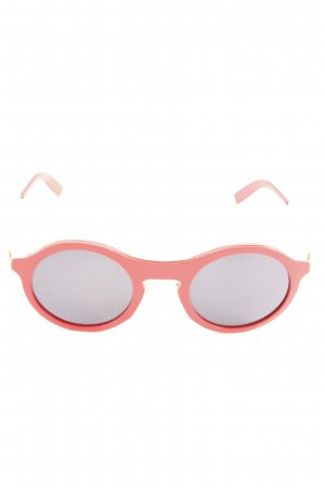 Round Sunglasses gold-colored-red extravagant style