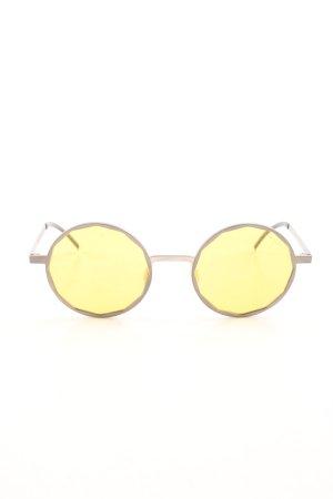 runde Sonnenbrille mehrfarbig extravaganter Stil