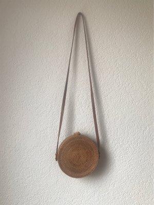 Torebka koszyk camel-brązowy