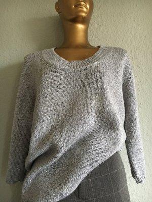 Via Appia Oversized Sweater silver-colored-light grey