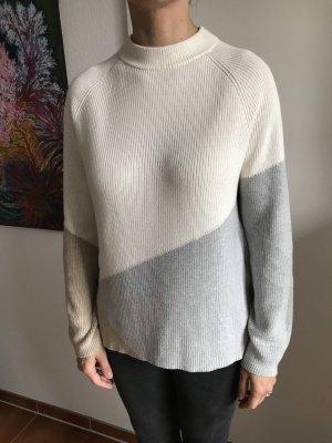 Rundhals Pullover grau/ beige/Cream