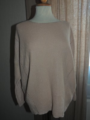 BGN Crewneck Sweater beige-silver-colored viscose