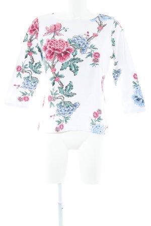 Rundhalspullover Blumenmuster Casual-Look