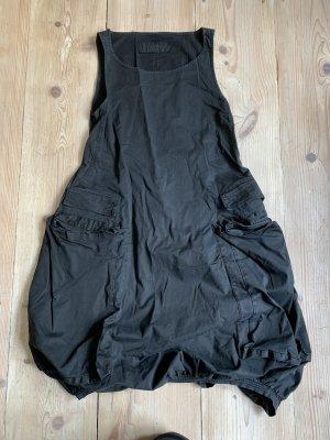 Rundholz dip Balloon Dress black-taupe cotton