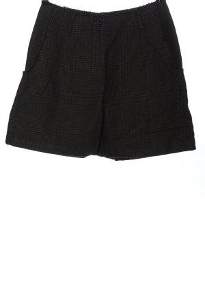 Rundholz Short taille haute noir-gris clair motif à carreaux
