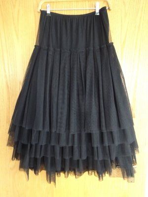 Rundholz Falda de tul negro poliamida