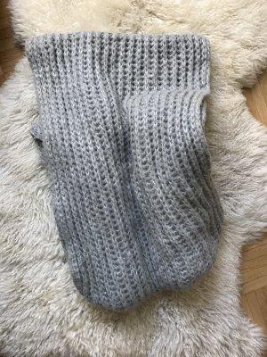 Snood grey-silver-colored