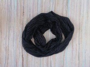 Écharpe ronde noir-gris coton