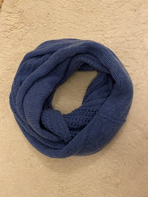 Handmade Bufanda de punto azul