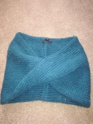 Imperial Écharpe ronde bleu pétrole laine