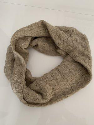 Écharpe ronde gris brun