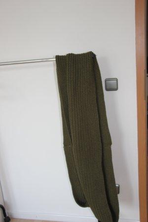 Tom Tailor Denim Bufanda de lana verde oscuro-verde bosque
