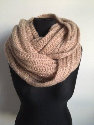Hallhuber Écharpe en crochet or rose-crème polyamide
