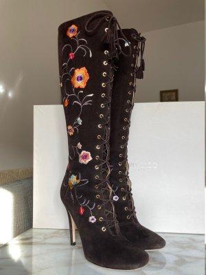 Jimmy Choo Botas de tacón alto marrón oscuro Cuero