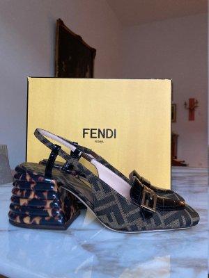 Fendi Slingback pumps bruin-donkerbruin Leer
