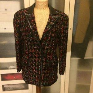 Rupp & Taubeck Vintage Tweed Leder Blazer Gr. 36