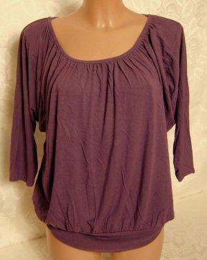 Camisa tipo Carmen púrpura