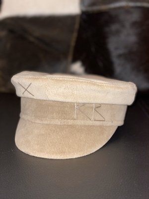 Ruslan Baginskiy Baker Boy Mütze beige kort 54 cm XS ganz neu
