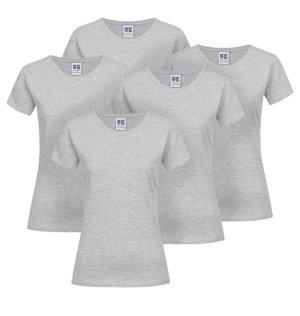 RUSSEL Damen Shirt 5 er Pack, Gr XL