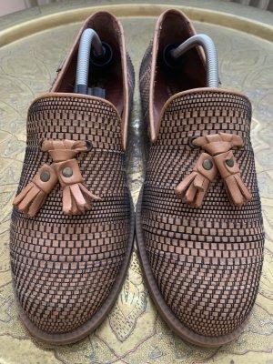 Russell & Bromley Luxus Loafer Leder Halbschuhe Gr 39