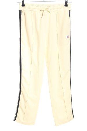 Russell Sweathose blassgelb-schwarz Streifenmuster Casual-Look
