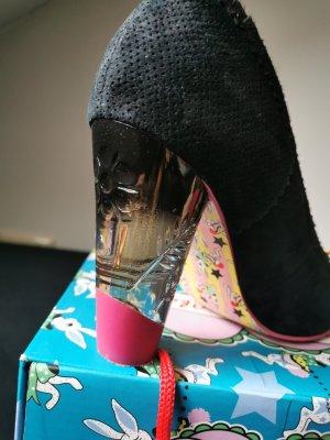 Irregular choice Mary Jane pumps zwart-roze