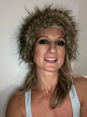 Eisbär Fur Hat natural white-grey brown