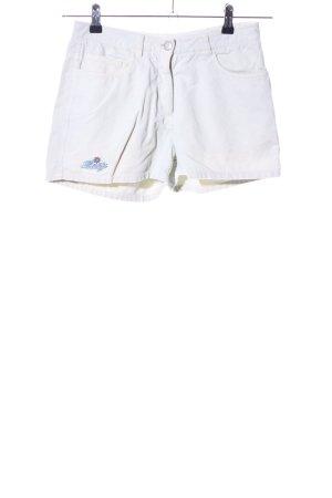 Rusty Shorts bianco caratteri ricamati stile casual