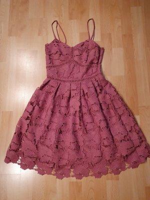 Rut & Circle Mini Dress dusky pink-mauve