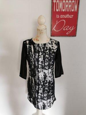 Rut & Circle Sheath Dress black-white viscose