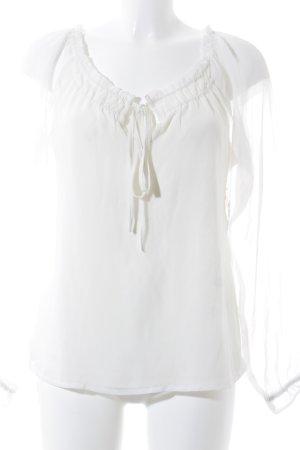 Rut & Circle Langarm-Bluse wollweiß Schleifen-Detail