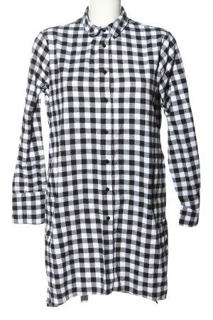 Rut & Circle Long Blouse black-white check pattern casual look