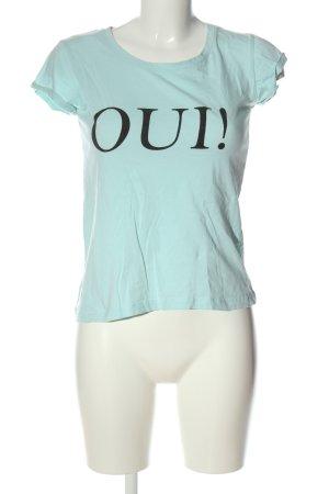 Rut & Circle Print Shirt turquoise printed lettering