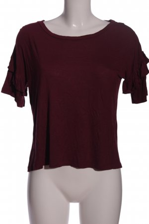 Rut & Circle Rüschen-Bluse rot Casual-Look