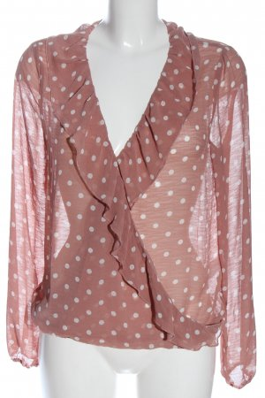 Rut & Circle Slip-over Blouse pink-white allover print casual look