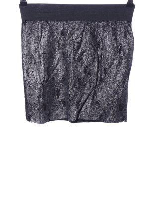 Rut & Circle Falda de encaje negro-gris claro look casual