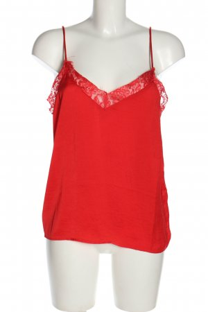 Rut & Circle Lace Top red casual look
