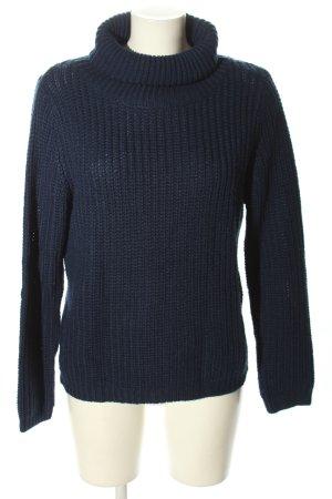 Rut & Circle Strickpullover blau Zopfmuster Casual-Look