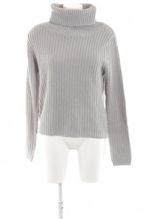 Rut & Circle Strickpullover hellgrau Zopfmuster Casual-Look