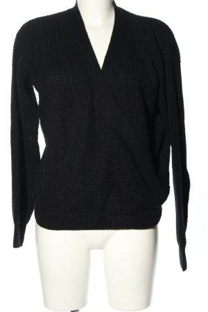 Rut & Circle V-Neck Sweater black casual look