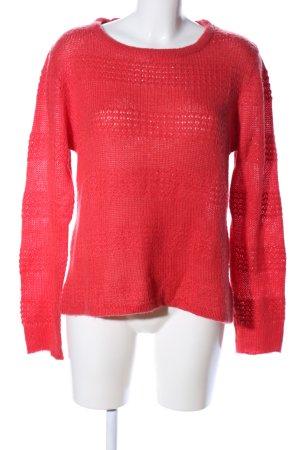 Rut m. fl. Maglione lavorato a maglia rosso stile casual