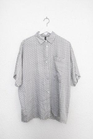 RVCA Camicia a maniche corte nero-bianco Viscosa