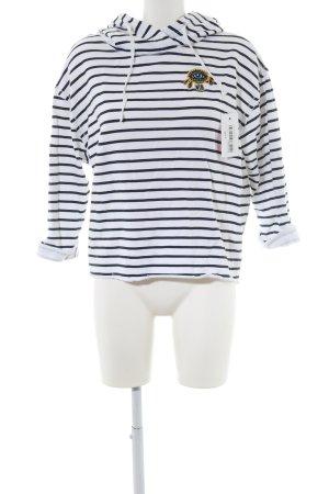 RVCA Kapuzensweatshirt weiß-schwarz Streifenmuster Casual-Look