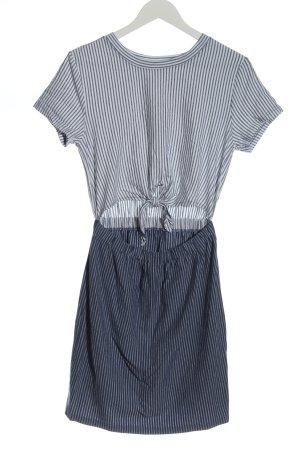 RVCA Shirt Dress blue-white striped pattern casual look