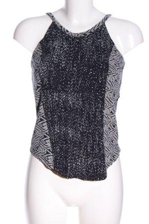 RVCA Top con bretelline nero-grigio chiaro motivo grafico stile casual