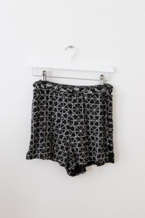 RVCA Short taille haute noir-blanc coton