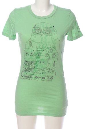 RVCA T-Shirt grün Motivdruck Casual-Look