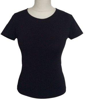 S 34 36 JOOP shirt Pulli Stretch Elastan schwarz