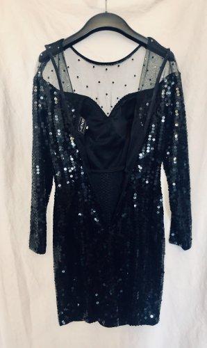 !!! S - A - L - E !!!  Super tolles, raffiniertes Kleid von NIENTE - Pailletten - Strass - Mini - Langarm - Kann bis 30.12. auch abgeholt werden