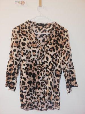 S Bluse langärmeliges shirt Leppard Muster